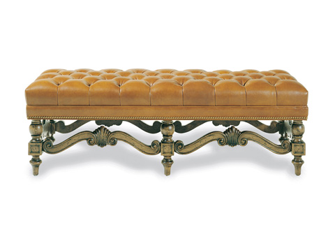 Hancock and Moore - Brentwood Tufted Bench - 087T