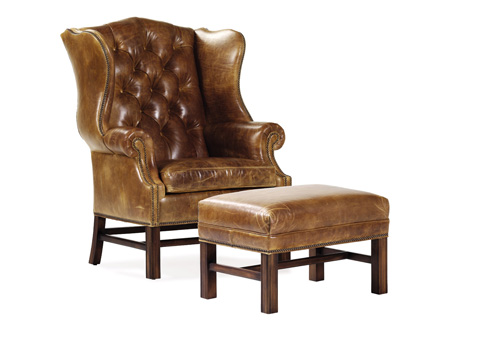 Hancock and Moore - East Bay Leather Tufted Chair - 4542