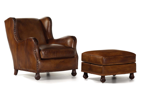 Hancock and Moore - Hargrave Leather Chair and Ottoman - 4774