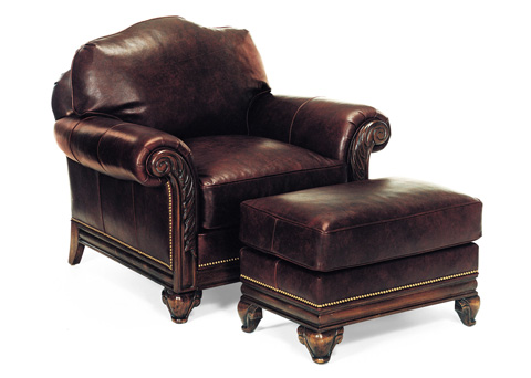 Hancock and Moore - Gallagher Chair and Ottoman - 1526/1527