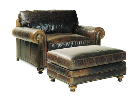 Hancock and Moore - Settlement Chair and Ottoman - 4189/4190