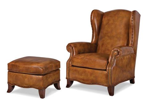 Hancock and Moore - Parkway Chair and Ottoman - 5846-O/5846-1