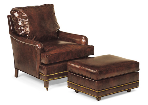 Hancock and Moore - Bishop Reading Chair and Ottoman - 8586/8587