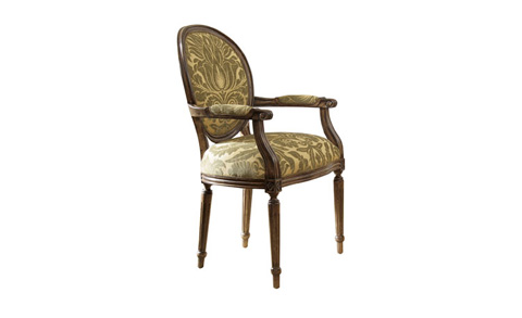 Harden Furniture - Oval Back Arm Chair - 3402-000