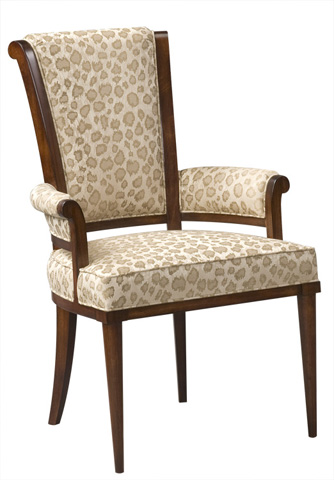 Harden Furniture - Scroll Back Upholstered Arm Chair - 547