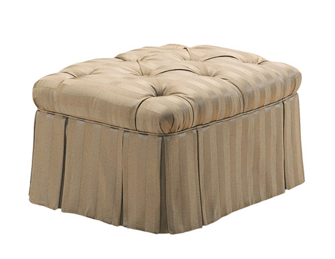 Harden Furniture - Tufted Ottoman with Skirt - 8311-000