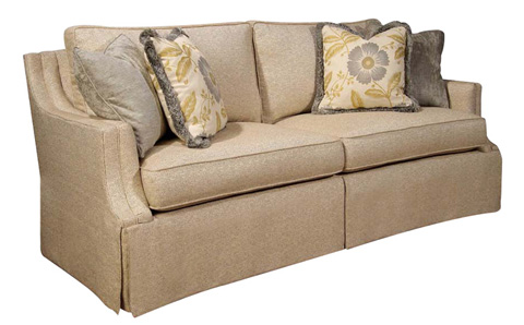 Harden Furniture - Loose Pillow Back Sofa with Waterfall Skirt - 8600-086