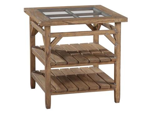 Hekman Furniture - Sutton's Bay Primitive Square Lamp Table - 1-4107