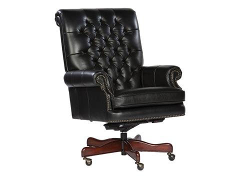 Hekman Furniture - Black Leather Executive Chair - 7-9253B