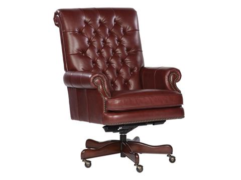 Hekman Furniture - Merlot Leather Executive Chair - 7-9253M
