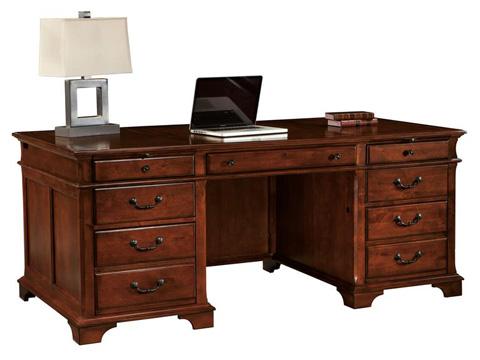 Hekman Furniture - Weathered Cherry Executive Desk - 7-9270