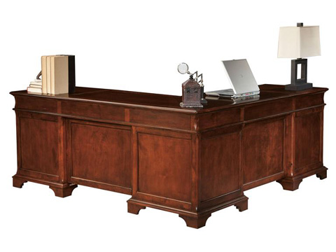 Hekman Furniture - Weathered Cherry Executive L-Desk - 7-9277