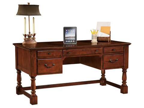 Hekman Furniture - Weathered Cherry Table Desk - 7-9278
