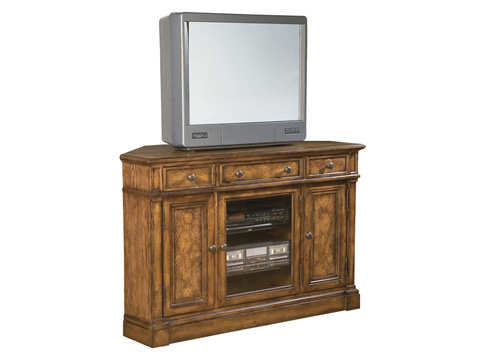 Hekman Furniture - Corner Entertainment Center Urban Ash Burl Finish - 8-1344