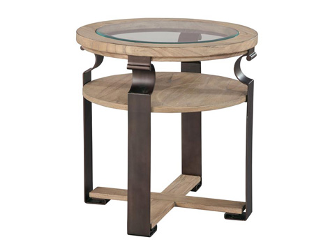 Hekman Furniture - Weathered Wood Round Lamp Table - 2-7450