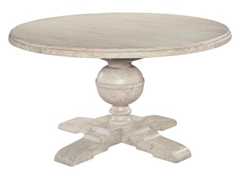 Hekman Furniture - Homestead Round Pedestal Dining Table - 1-2221LN