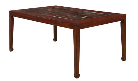 Henkel-Harris - Glass Top Dining Table - 2285G