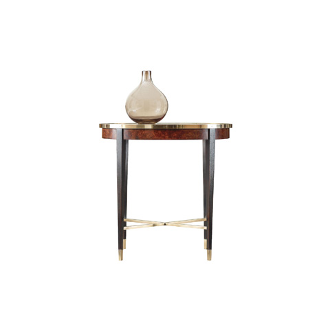 Henredon - Oval End Table with Brass Rim - 2800-42