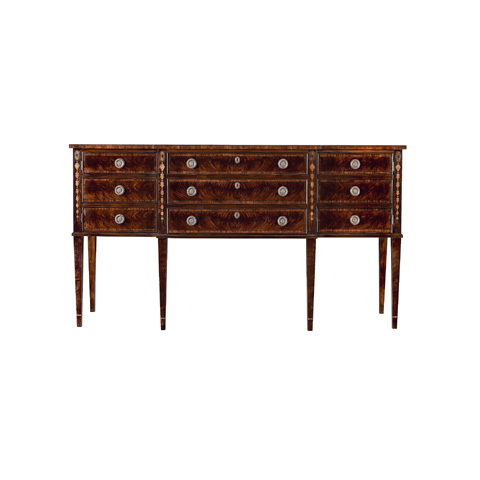 Henredon - Three Drawer Sideboard with Cabinets - 9402-21