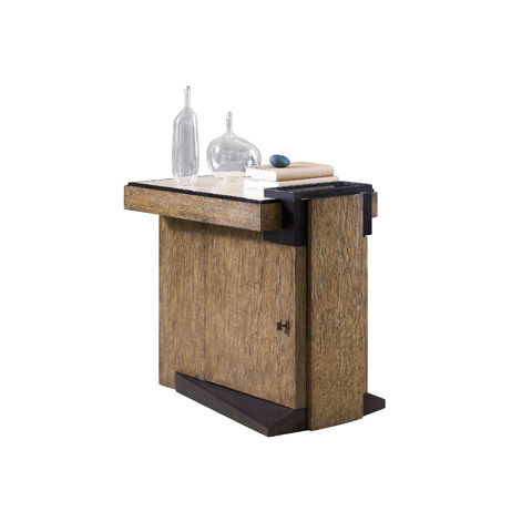 Henredon - Accent Table with Leather Top - 3440-41