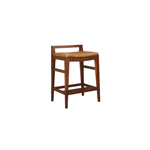 Henredon - Leather Seat Barstool - 2100-29