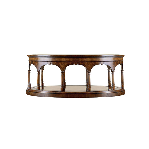 Henredon - Oval Cocktail Table with Glass Top - 2700-40G