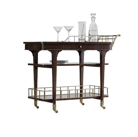 Henredon - Serving Bar Cart with Shelves - 2800-25G