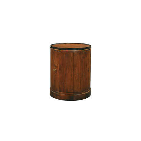 Henredon - Drum Side Table with Cabinet - 3010-42