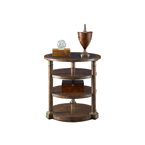 Henredon - Round Lamp Table with Shelves - 3402-42