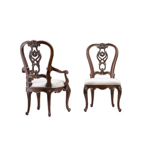 Henredon - Carved Back Arm Chair - 5040-27