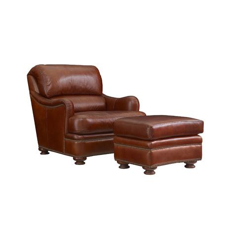 Henredon - Leather Bustle Back Chair - IL8850