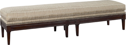 Hickory Chair - Courtland Bench with Eight Legs - 1524-30