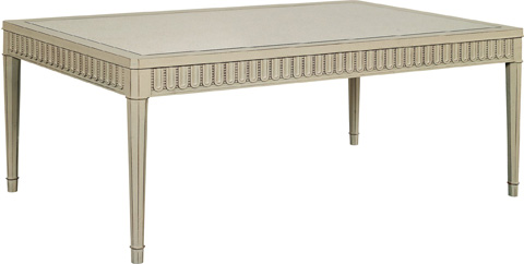 Hickory Chair - Slaton Antique Mirror Top Coffee Table - 1681-11