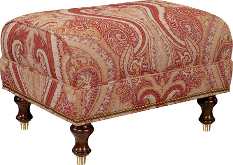 Hickory Chair - Lowell Ottoman - 1782-29