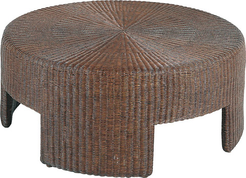 Hickory Chair - Wicker Round Coffee Table - 5581-10