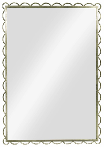 Hickory Chair - Silver Leaf Scallop Mirror - 7692-11