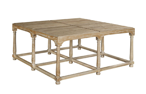 Hickory Chair - Marit Cocktail Table with Wood Top - 9501-10