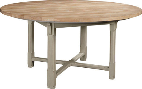Hickory Chair - Campagne Round Dining Table - 9843-41/1538-70