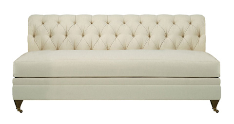 Hickory Chair - Marquette Made To Measure Tufted Armless Sofa - 705-52-S