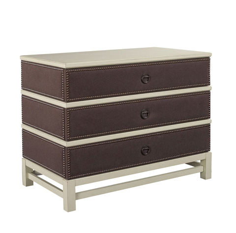 Hickory Chair - Remy Three Drawer Upholstered Chest - 9573-72