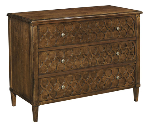 Hickory Chair - Murano Three Drawer Chest with Wood Top - 9771-70