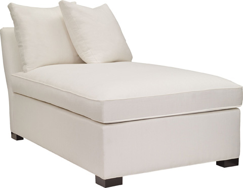 Hickory Chair - Silhouettes Armless Chaise - 4128
