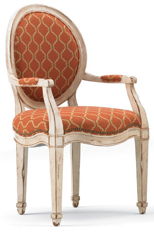 Hickory White - Round Back Arm Chair - 171-61
