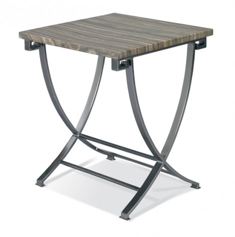 Hickory White - Cosmo Martini Table with Stone Top - 243-28S