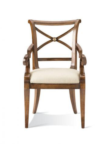 Hickory White - X-Back Arm Chair - 421-63