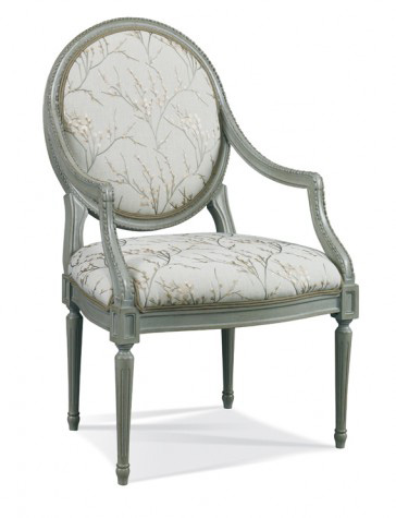 Hickory White - Round Back Arm Chair - 4496-01