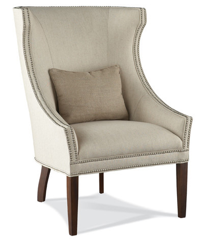 Hickory White - Wing Chair with Nailhead Trim - 4860-01
