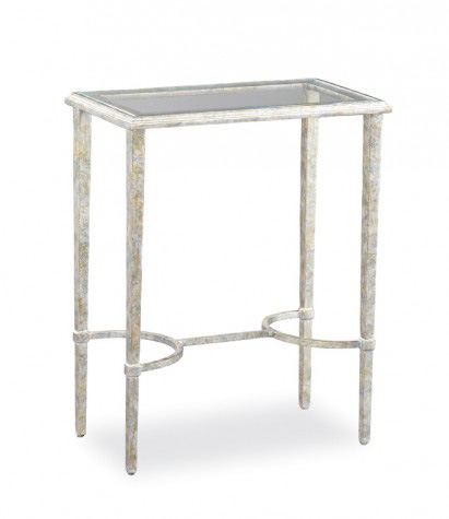 Hickory White - Glass Top Side Table - 793-21