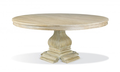 Hickory White - Round Dining Table - 550-05
