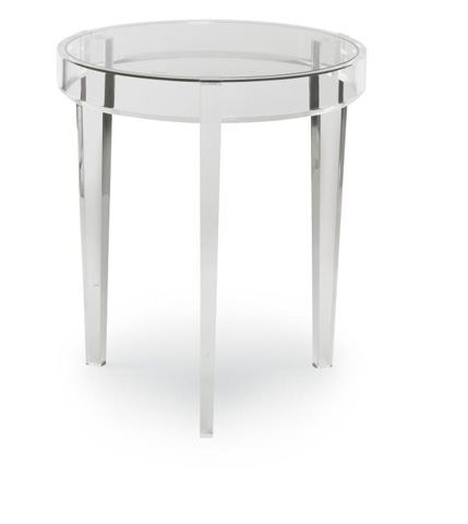 Highland House - Wanda Lucite and Glass Accent Table - HH19-610-AS